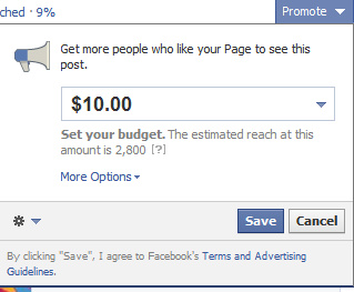 Paying for Promotions on Facebook