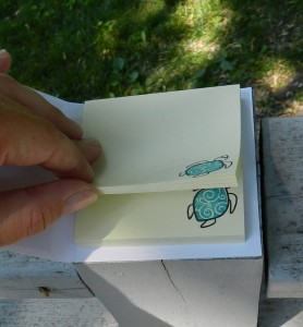 Turtle Post it Notes