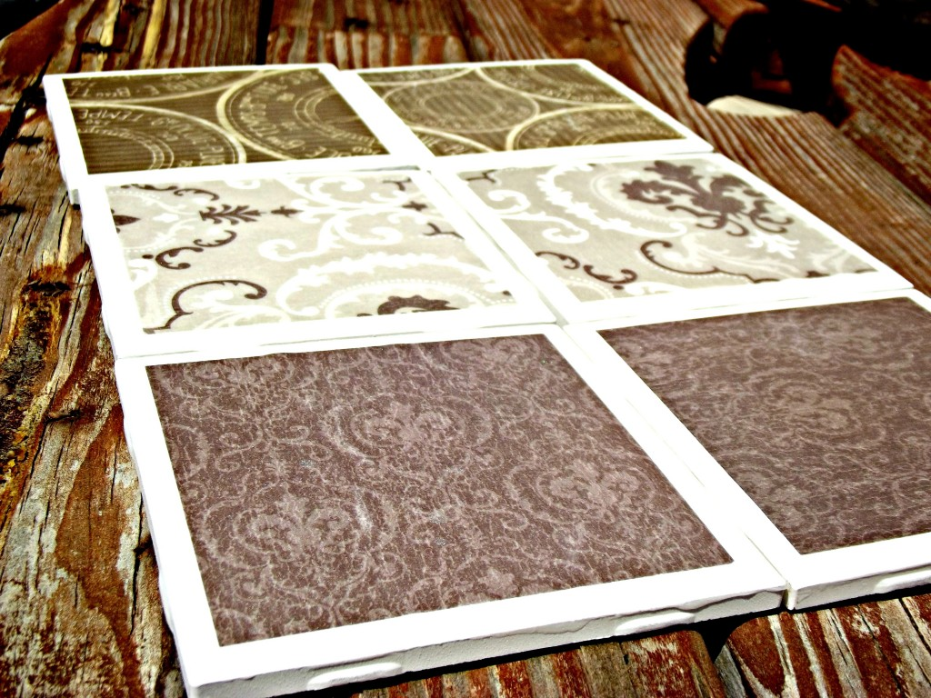 DIY Coasters out of Tiles