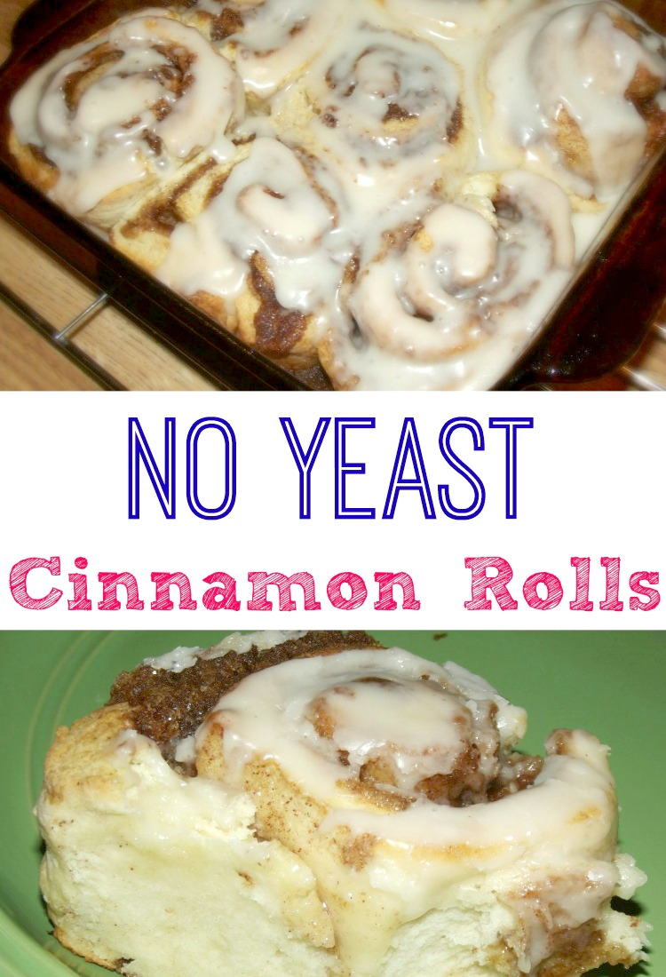There's no need to wait for the dough to rise with this Quick and Easy No Yeast Cinnamon Rolls recipe!