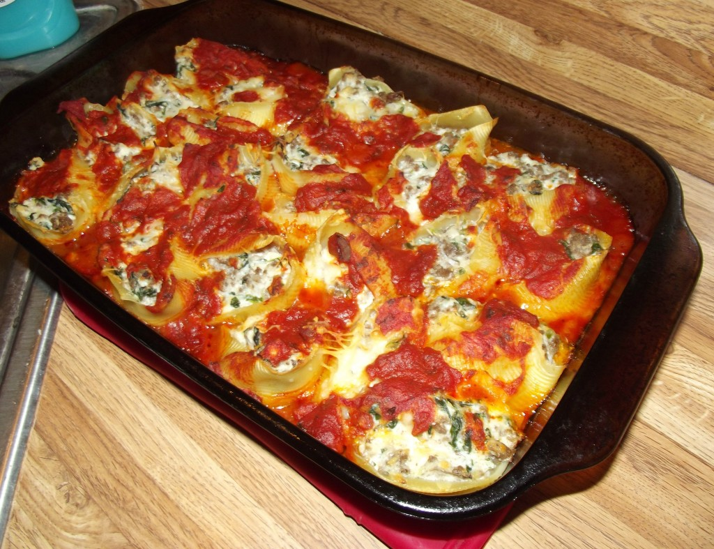 Spinach and Beef Stuffed Shells