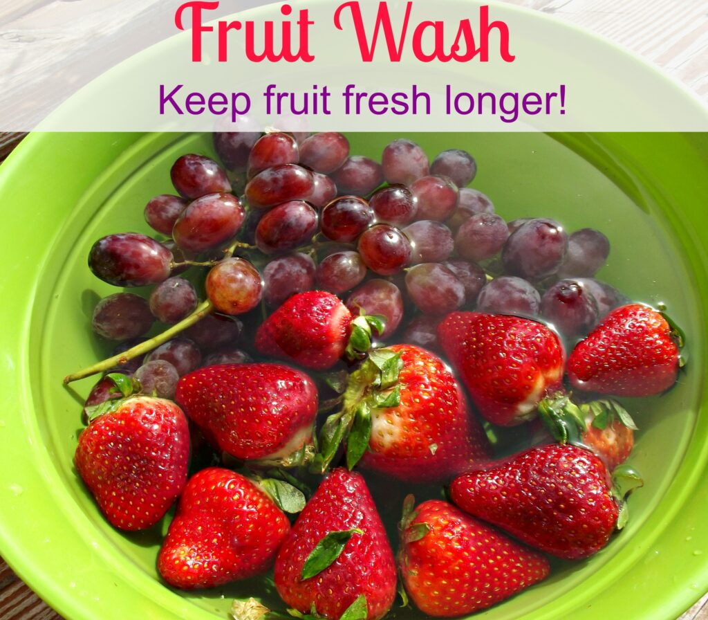 Vinegar Fruit Wash