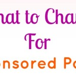 What to Charge for Sponsored Posts