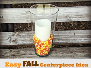 Easy and Inexpensive Candy Corn Centerpiece Craft!