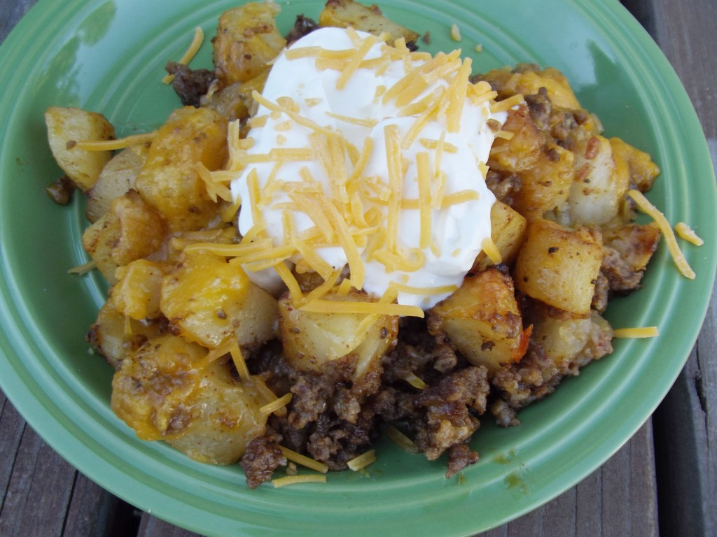 Meat and Potato Taco Bake