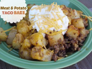 Meat and Potato Taco Bake – Switching Up From a Classic Mexican Dish!