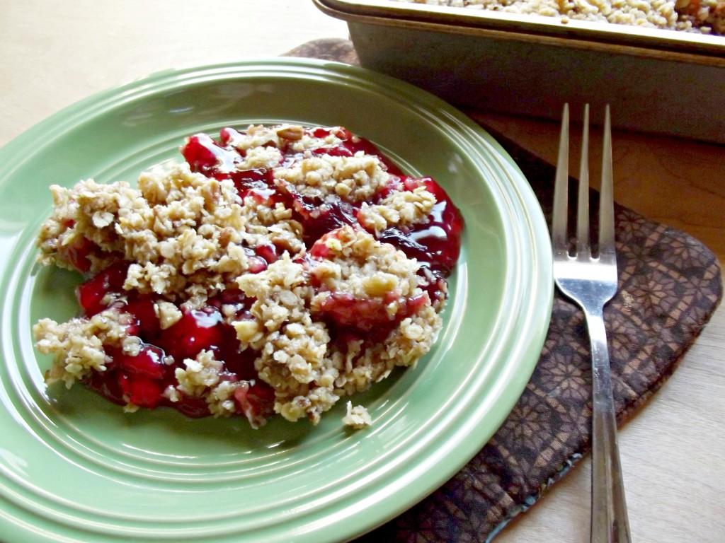 Cherry Pecan Crisp