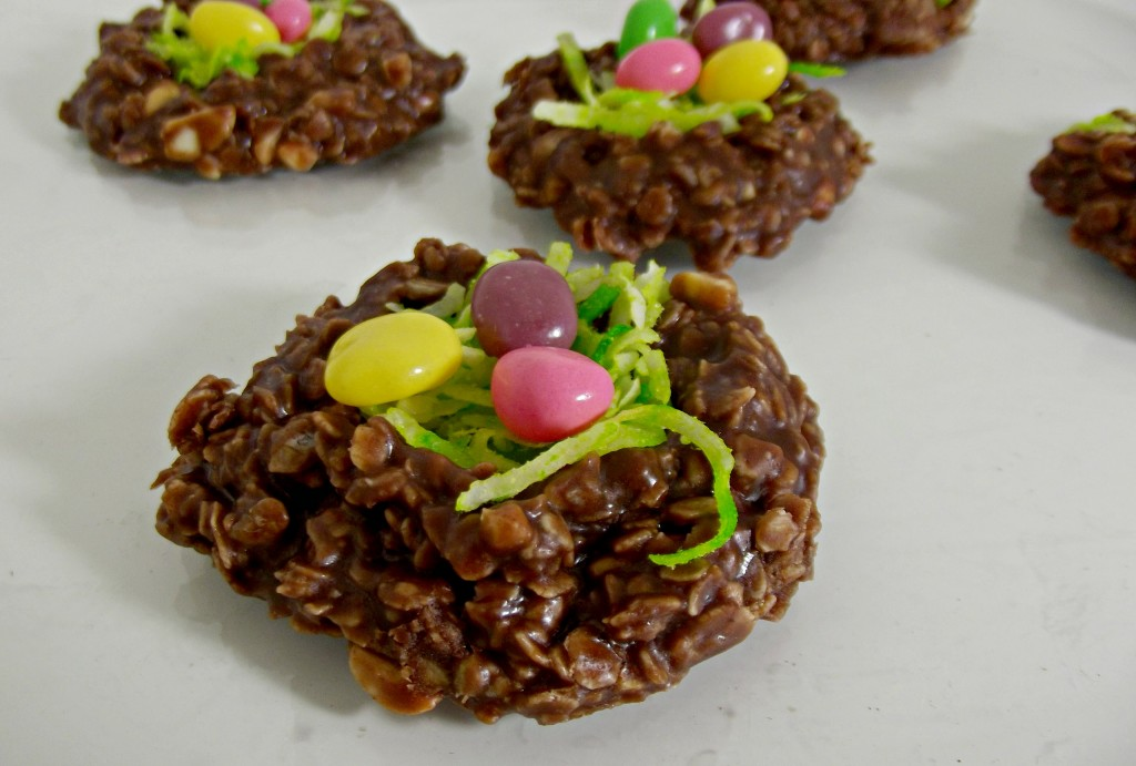Easter Egg No Bake Cookie Nest