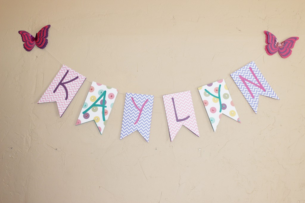 check out this adorable name banner i made for my niece