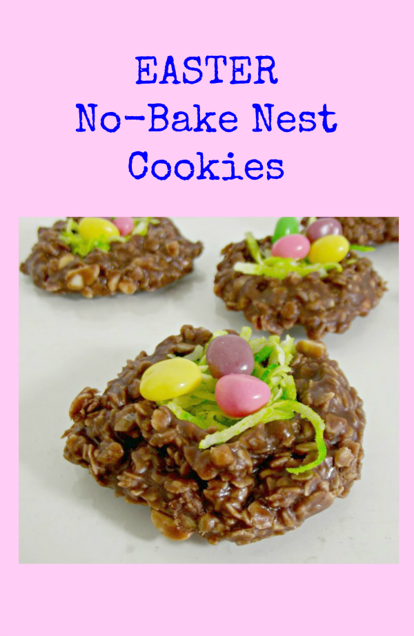Easter No Bake Nest Cookies