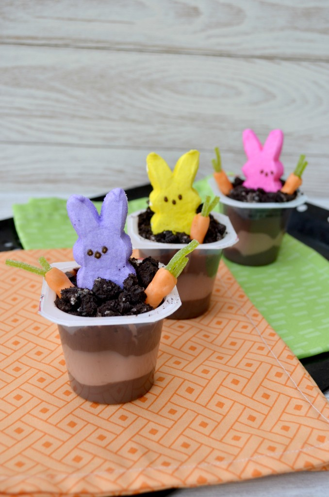 Easy Peeps Pudding Cups with Oreos