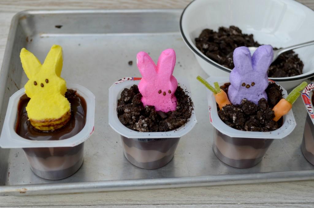 Oreo Peeps Bunny Pudding Cups Recipe