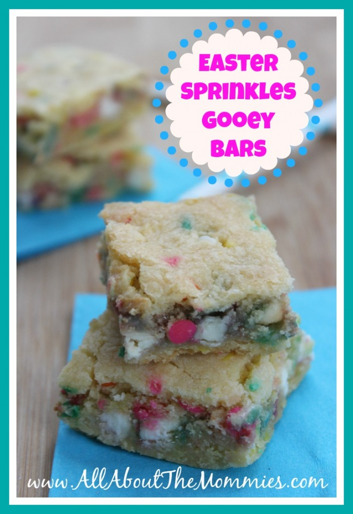 Easter Sprinkles Gooey Bars