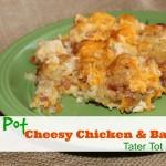 Easy Crockpot Cheesy Chicken & Bacon Tater Tot Casserole