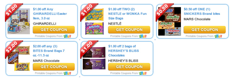 Easter Candy Coupons