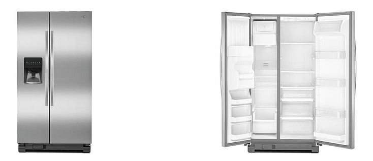 Kenmore Stainless Steel Side-by-Side Refrigerator