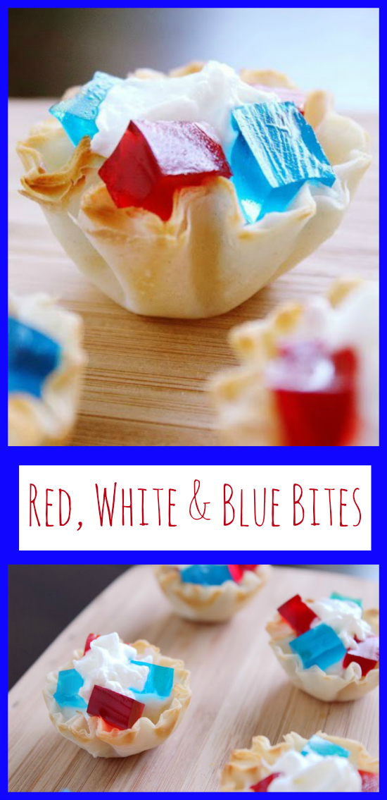 This Red, White and Blue Bites recipe is the perfect easy-to-make dessert for any patriotic holiday like the 4th of July!