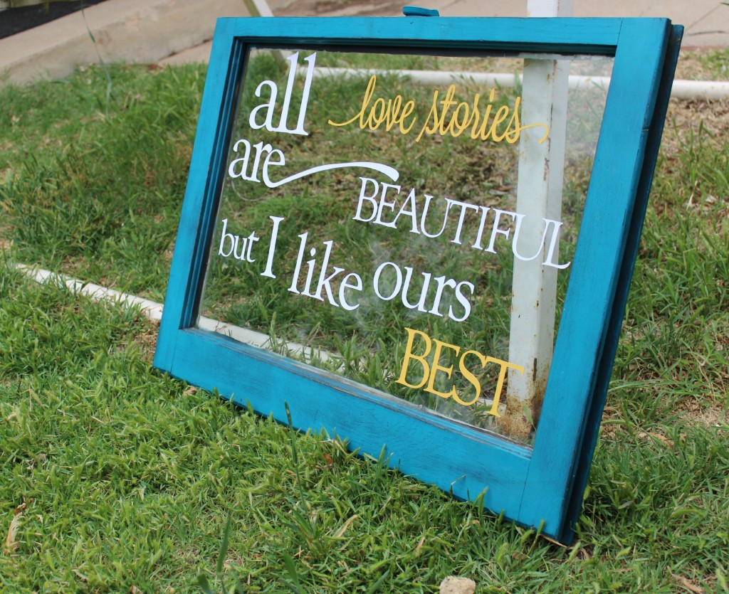 Turn An Old Window Into Wall Decor With Fresh Paint And Quote
