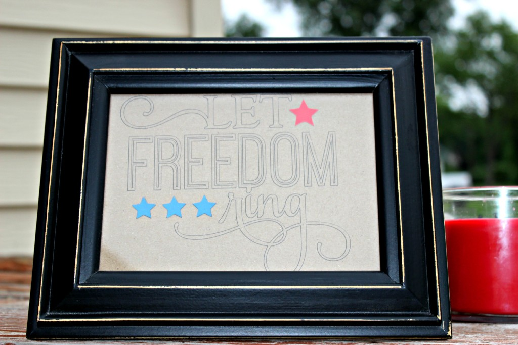 Let Freedom Ring 4th of July Inspired Sign Silhouette Craft