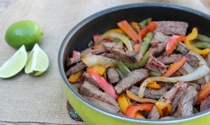 Copycat Chili's Steak Fajitas