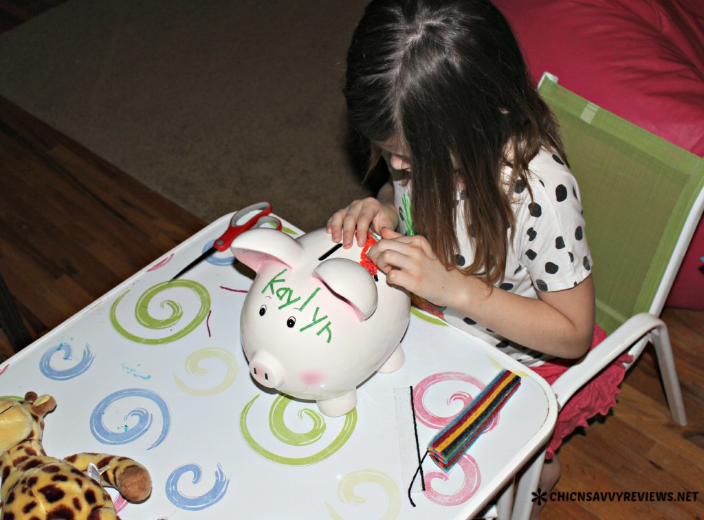 Piggy Bank with Wikki Stix