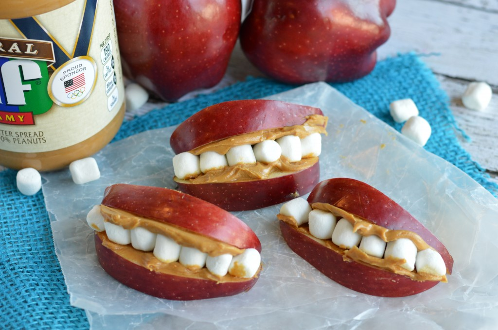 Peanut Butter Apple Teeth
