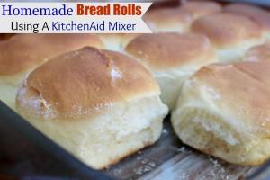 Homemade Bread Rolls Using A KitchenAid Mixer