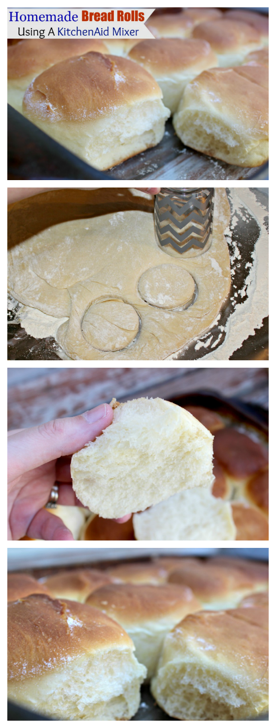 Homemade Bread Rolls Using a KitchenAid Mixer