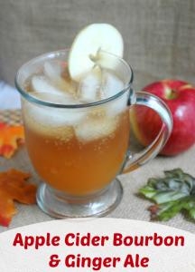 3 Ingredient Apple Cider Bourbon & Ginger Ale Drink