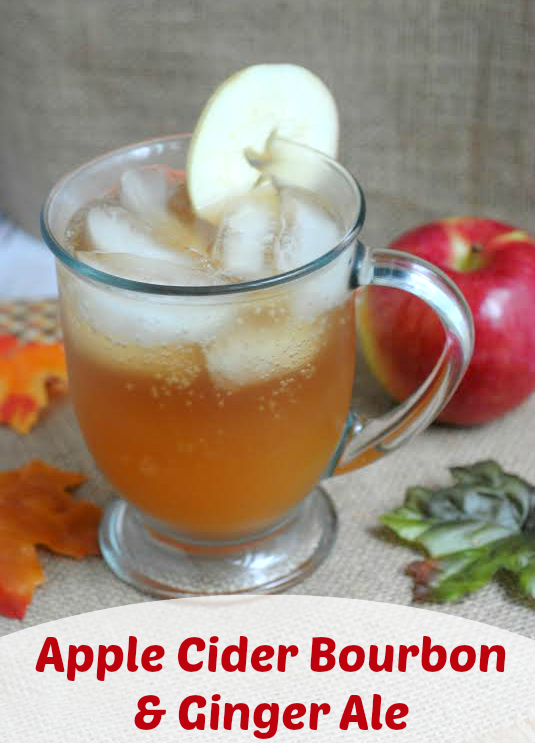 Apple Cider Bourbon & Ginger Ale Drink