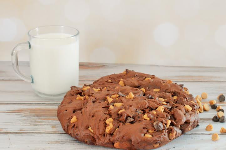 Double Chocolate Peanut Butter Giant Cookies