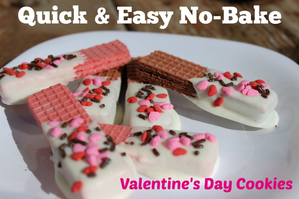 Valentine's Day Dipped Wafer Cookies