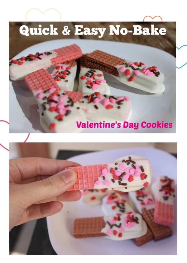 Easy No Bake Valentine Cookies