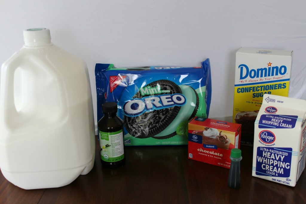 Mint Oreo Trifle Ingredients