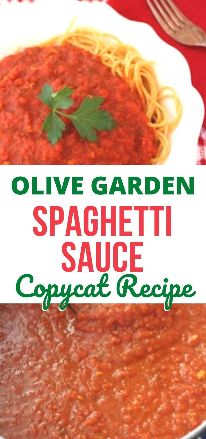Olive Garden Pasta Sauce