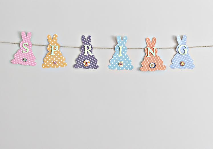 Bunny Banner for Spring
