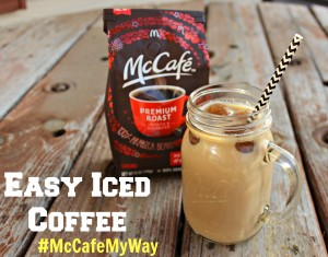 McCafé Coffee Is Now In The Grocery Aisle + Easy Iced Coffee Recipe  #McCafeMyWay
