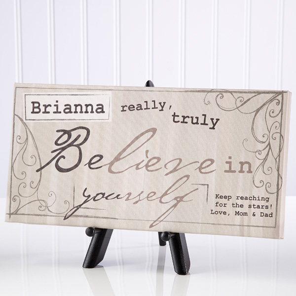 Really, Truly Believe Personalized Canvas Print-