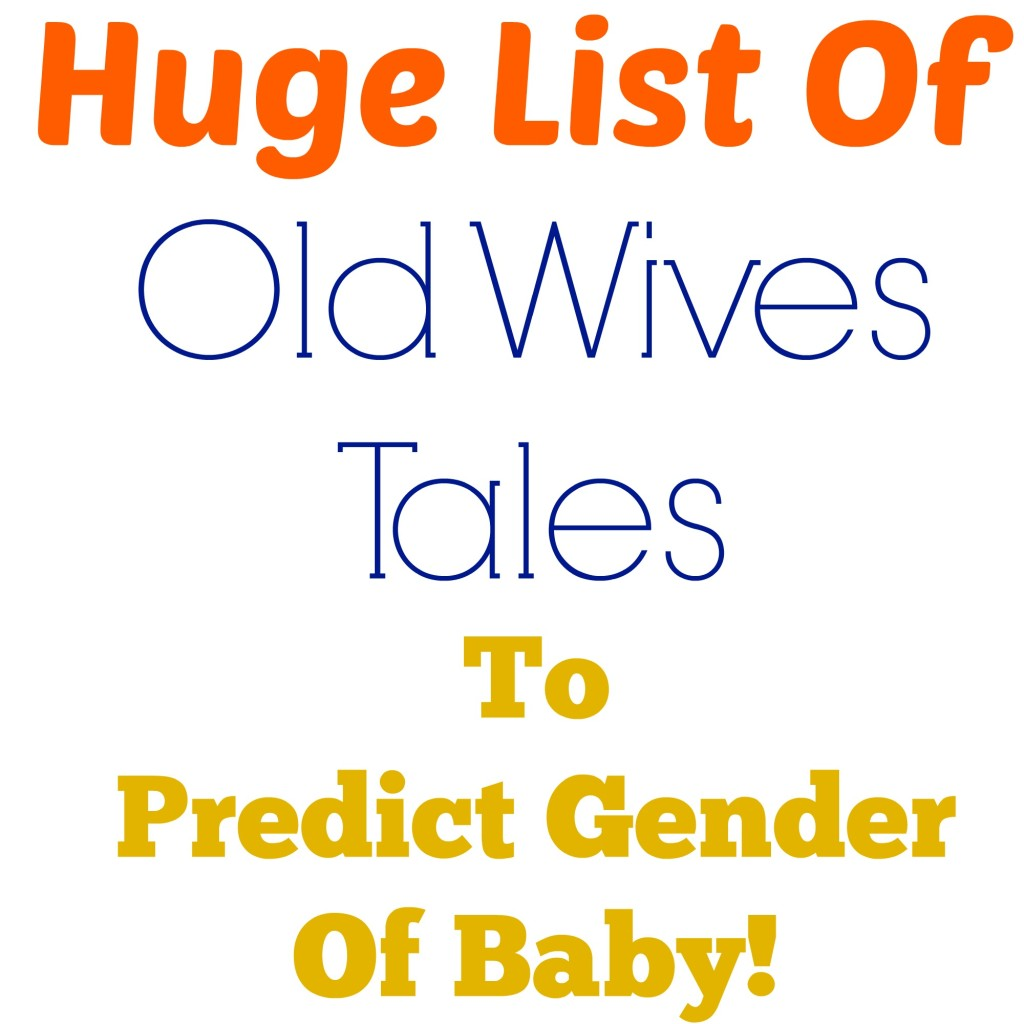 Old Wives Tales baby gender