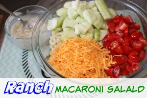 Quick & Easy Ranch Macaroni Salad