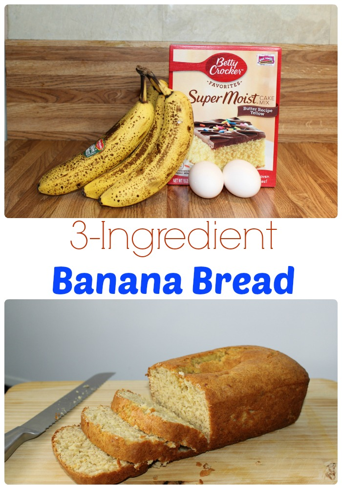 3 Ingredient Banana Bread