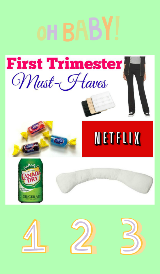 First Trimester Must Haves for Expectant Mothers - If you're expecting, this are some of the things you will WANT to have handy during your first trimester of pregnancy.