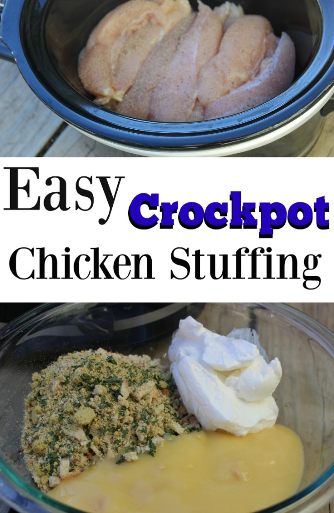 Easy Crockpot Chicken and Stuffing