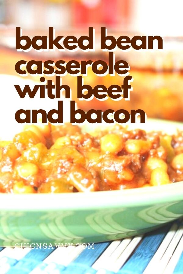 baked bean casserole with beef and bacon