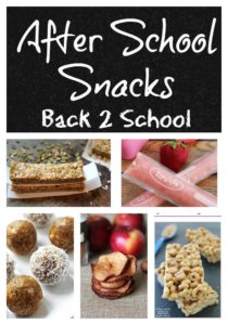 After School Snacks for Back to School!