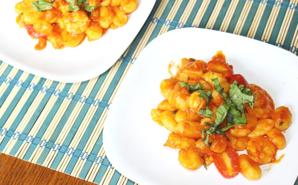 saffron gnocchi shrimp