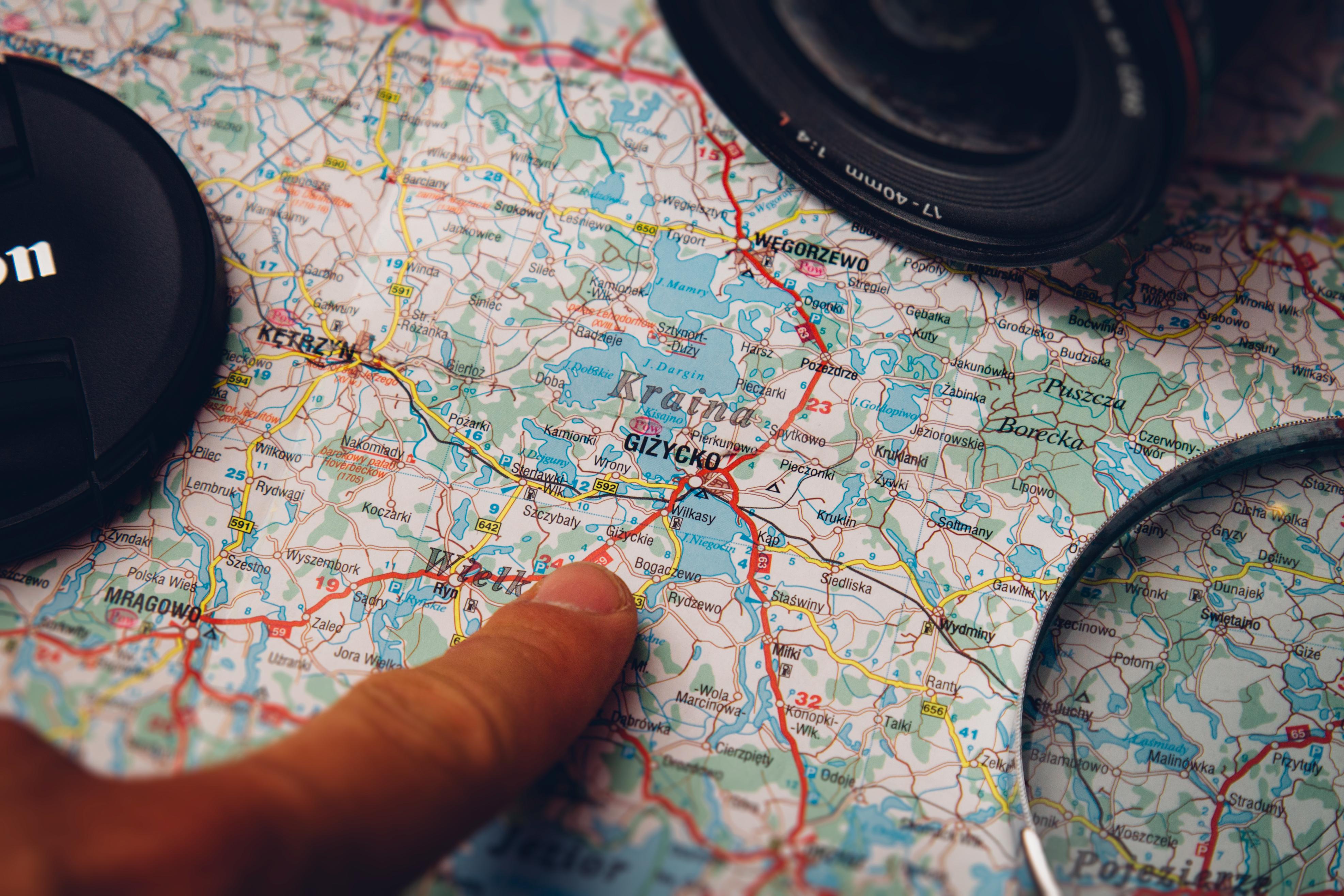 night camera lens map