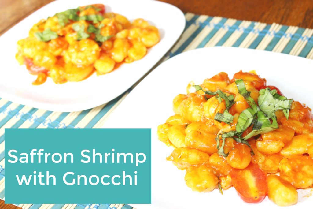 Saffron Shrimp with Gnocchi