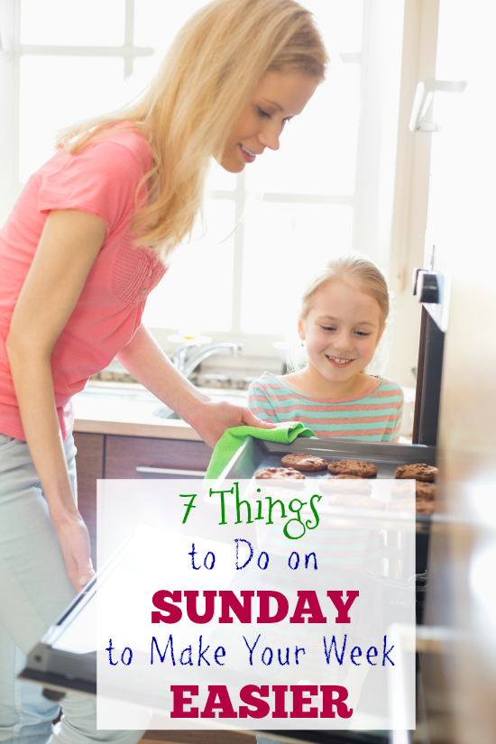 7 Things to Do on Sunday to Make Your Week Easier