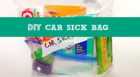 DIY Car Sick Travel Bag